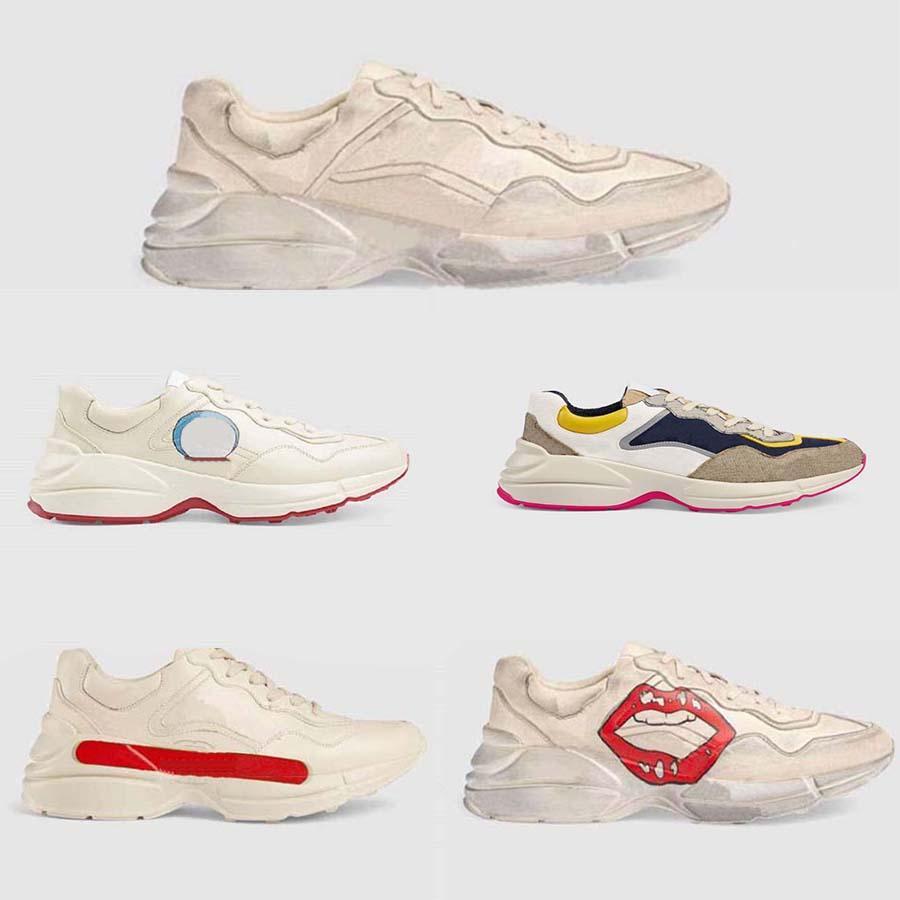 고전적인 품질 가죽 남성 여성 신발 운동화 스타일리스트 레이스 스 니 커 즈 고무 낮은 상단 플랫폼 Shoe home011 01
