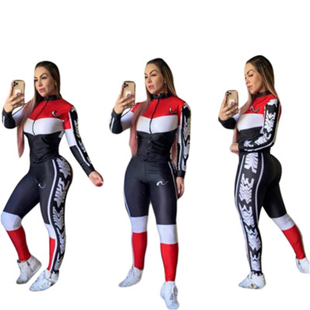 Otoño Mujer Sportswear 2pcs Abrigos para mujer de manga larga Pantalones de chándalsuits Pantalones Pantalones Pantalones sueltos Top Casual Ropa Set