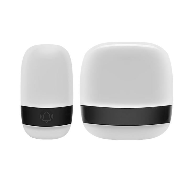 Kapı Zarlaları Akıllı LED Kablosuz Chime Kapı Çan 38 Tunes Müzik Verici + Alıcı Uzaktan Kumanda AC Yağmursuz ABD