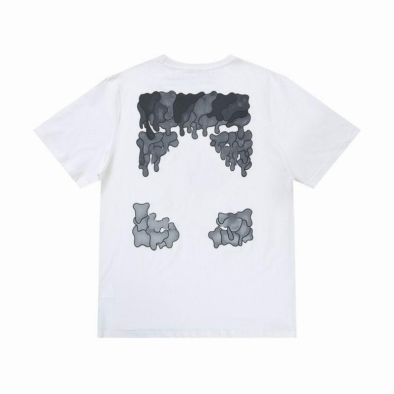 OFF 디자이너 크로스 패션 그라디언트 Dissolve 화살표 인쇄 반팔 T 셔츠 남성 탑 티 티셔츠 캐주얼 여성 티셔츠 x 인쇄 여름 탑스 EU 크기