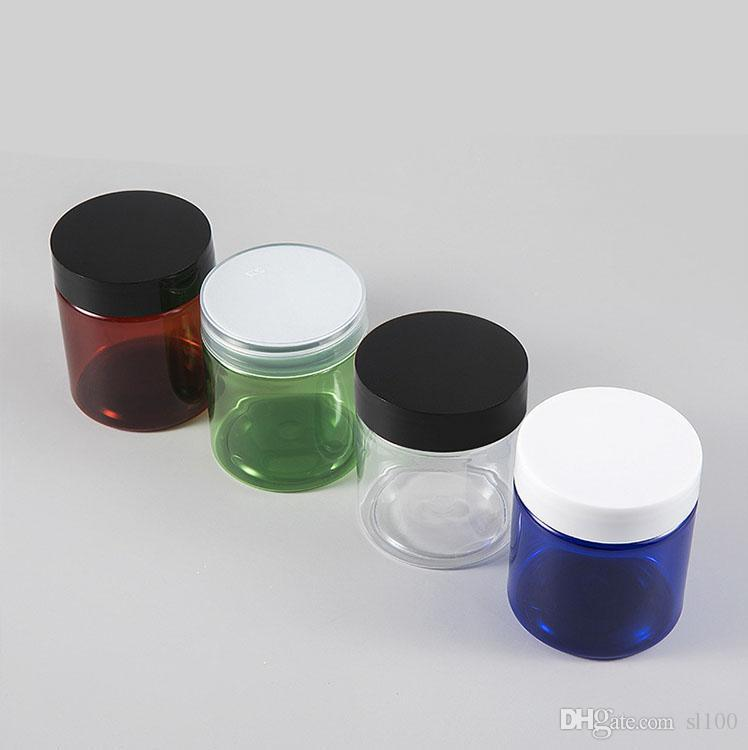 Vide de stockage en plastique clair SLIME SLIME FAVOR BOARS ÉCHANTILLONS ÉCHANTILLONS ÉCHANTILLON ÉLECTURE ROUGE COSMETIQUES POT DE VOYAGE COSMÉTIQUE AVEC COUVERTURE DE VIS NOIRES POUR PERTES BIJOUX FABRIAUX NAILS ART