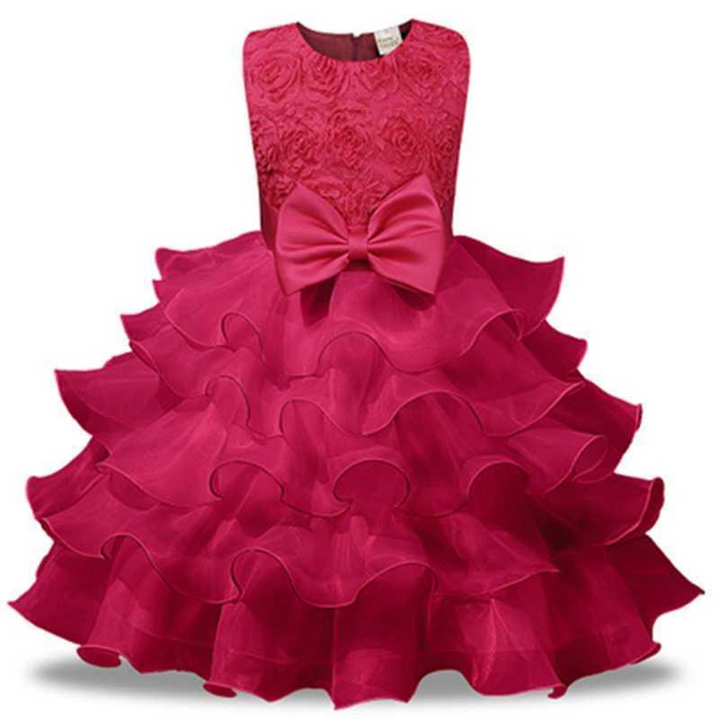 Vestidos de niña 1-8yrs Children Girl Fiesta de bodas Vestido Vestido para disfraces Para Niños Floral Anhelo Princesa Ropa de Niñas