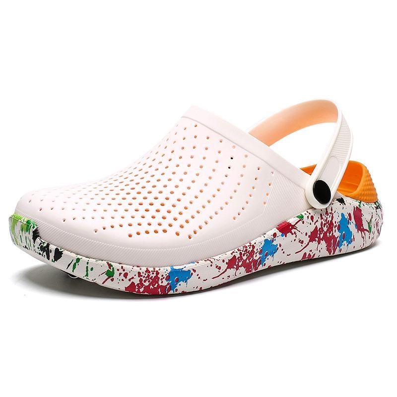 الصنادل النساء الأحذية البيضاء حفرة الدفيئة 2021 الصيف شاطئ المطاط قباقيب للرجال حديقة الأحذية cholas sandalias hombre