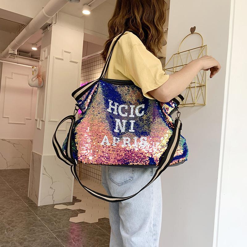 스타일 유럽 및 미국 토트 백 패션 초경량 방수 나일론 어깨 핸드백 여성의 크로스 바디