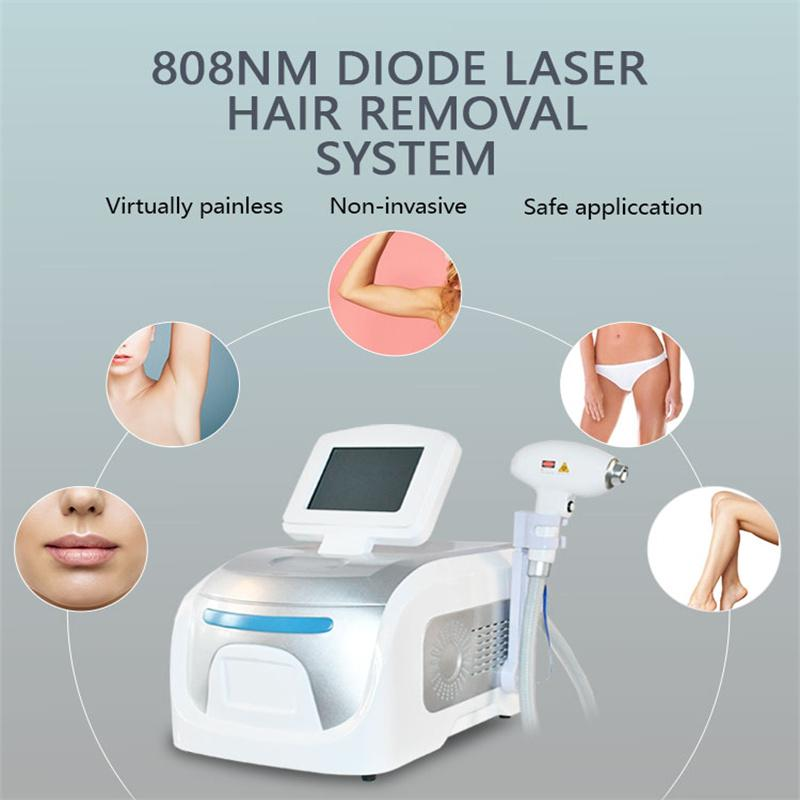 2021 Dépilacion populaire Portable Alexandrite Machine 808nm Diode Diode Équipement de beauté Matériel de beauté pour le salon (3 Wavel Longueur)