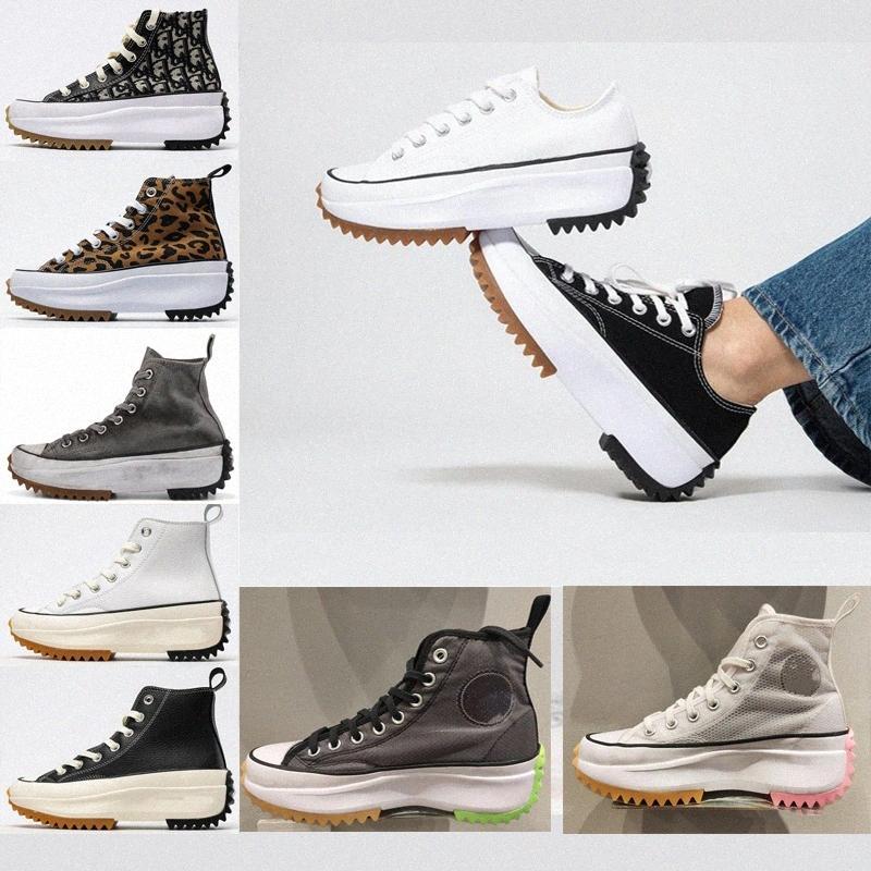 2021 الرجال تشغيل نجمة تنزه المرأة قماش أحذية ليوبارد البرتقالي أسود أصفر أبيض أعلى نجوم الكلاسيكية سميكة أسفل الأحذية حجم 36-41