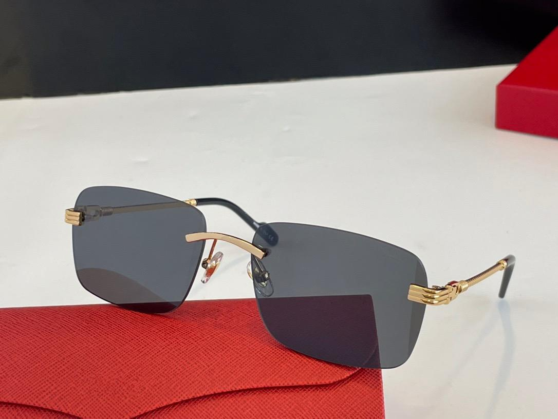 0295S Fashion Summer style Gradient lens Sunglasses UV 400 Protection for men and Women Vintage square metal Frameless Top Quality Come With Case classic eyeglasse