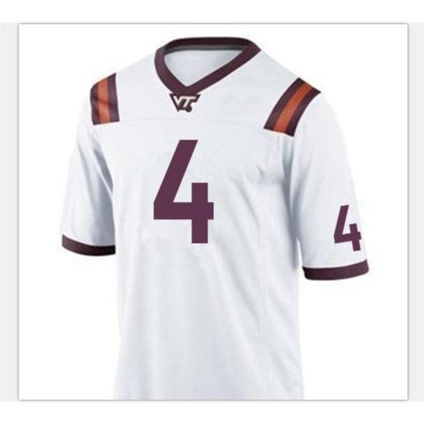Özel 009 Gençlik Kadın VA Tech Hokies Dax Hollifield # 4 Futbol Forması Boyutu S-5XL veya özel herhangi bir isim veya numara forma