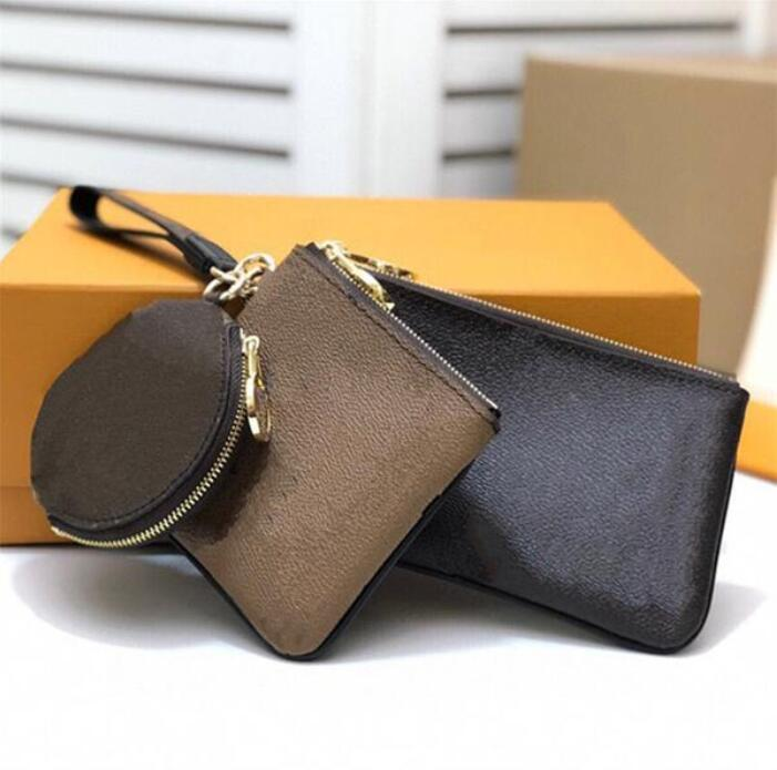 3 قطع سيدة مصممين محفظة العلامة التجارية حقيبة عملة الحقيبة مفتاح محفظة أحدث الكلاسيكية إلكتروني حامل البطاقة أعلى جودة حقائب اليد