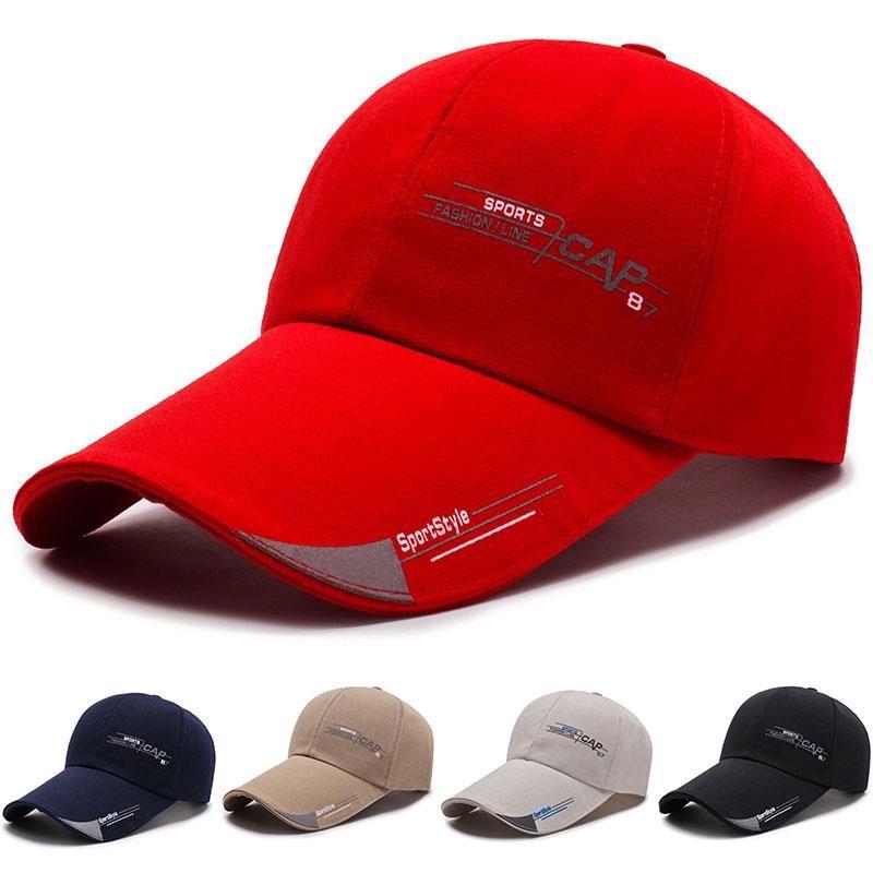 men snapbacks Quick Dry Mesh Baseball Hat Print Letter Ball Cap Adjustable Fishing Men's Cotton Workout Gorras Basketball red Hats