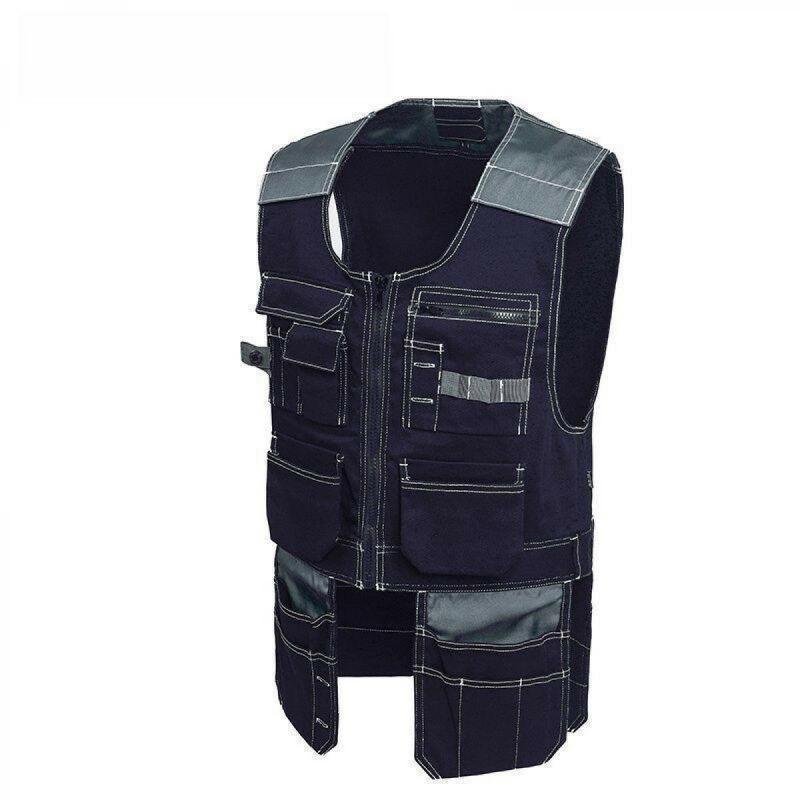 Ropa de trabajo para hombre Multi-Pockets Herramienta de trabajo Chaleco de chaleco de chaleco S-2XL Moda sin mangas Hombres casuales Tops Hombres