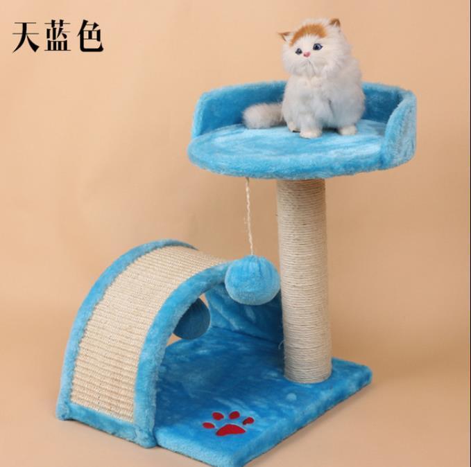 Мебель Transers House Сплошные милые сизальские канат плюшевые подъемное дерево кошка Pet Toy Play Упражнение башня бежевый корабль из США 7T2UY ED4RL