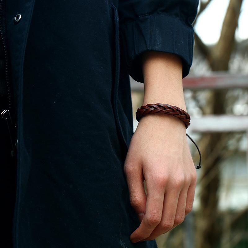 Charm Bracelets Adjustable & Bangles Mens Leather Pulseira Masculina Jewelry Bileklik Pulseiras Boyfriend Girlfriend