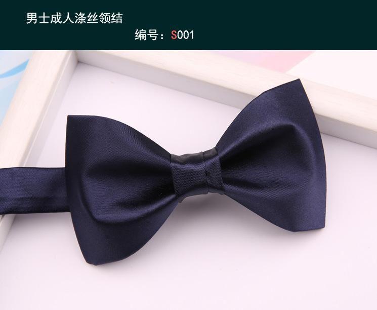 Yay bağları moda mavi kravat iplik boyalı erkek resmi takım elbise iş ziyafet lacivert gelinlik adam