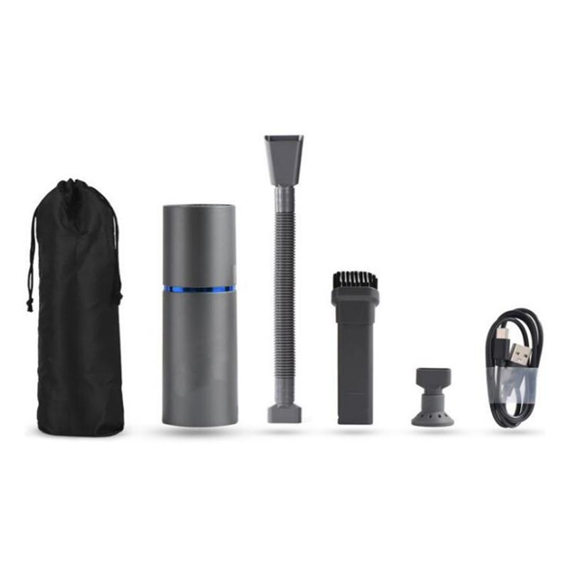 Mini aspiradora, plumero de aire y bomba de mano 3 en 1, pequeña mano inalámbrica USB recargable, fácil de limpiar la aspiradora de escritorio