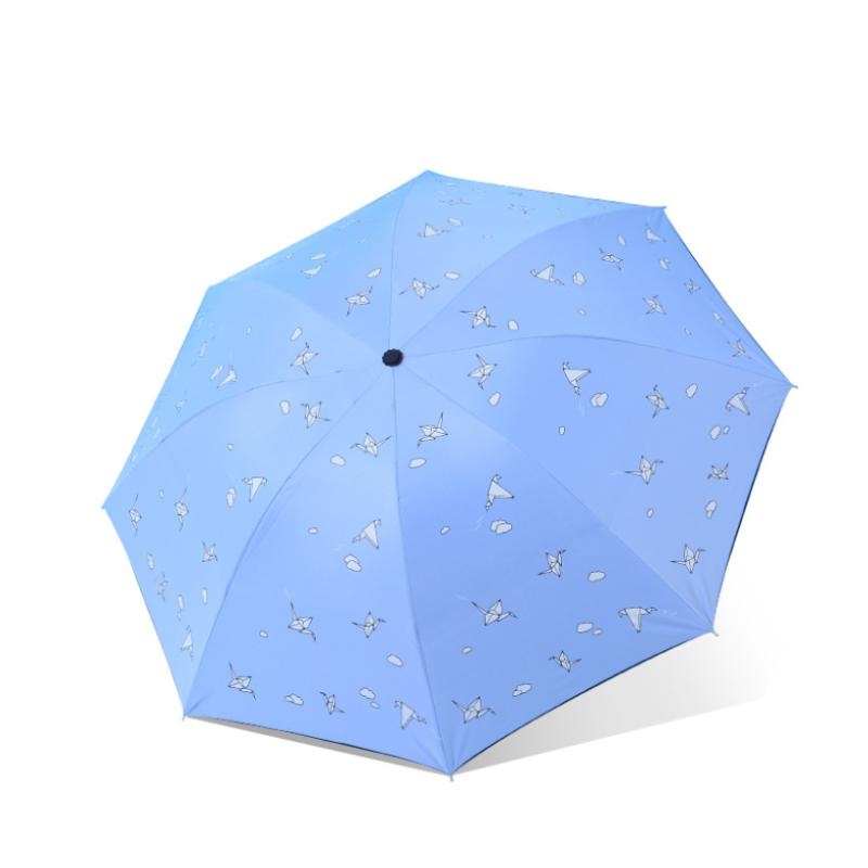 Sonnenschirme ins nette sonnige und riany 3 flippern Blackcoating Papierkrane Regenschirm