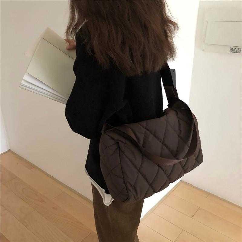 حقيبة إبطالية كبيرة 2021 سعة عصرية عالية الجودة القطن حقيبة الكتف مصمم حقائب اليد الفاخرة أكياس crossbody for w omen
