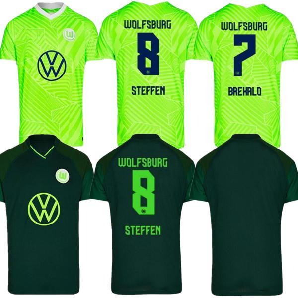20 21 VFL Wolfsburg Soccer Jersey Weghorst Arnold Home Malli Brekalo Mehmedi Gincek Guilavogui Xaver Steffen Camisa de Fútbol Uniforme