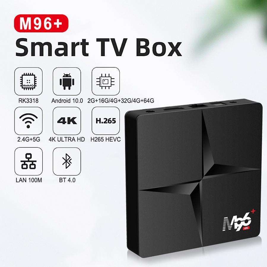 M96 + TV Smart TV Box 2 + 16G 4 + 32G 64G 128G Android 10.0 RK3318 WIFI 4K مجموعة أعلى مع الحزمة