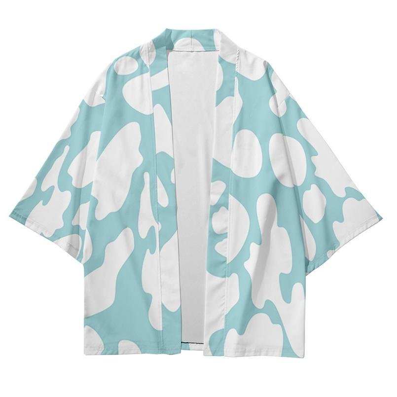 Plus Größe XXS-6XL Milchkuh Floral Lose Japanische Streetwear Strethigan Frauen Männer Harajuku Haori Kimono Cosplay Yukata Kleidung 210603