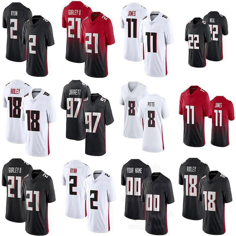 8 Кайл Питтс 18 Ридли 11 Julio Jones Custom Football Jerseys 2 Мэтт Райан 97 Гарди Джарретта 21 Тодд Гурли II 45 Дейон Хейден Херст Алекс Мак Мужская Женская молодежь