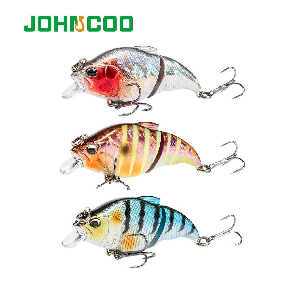 JOHNCOO Vibration-X Sinking Fishing Lures Kit 3pcs Hard Bait Minnow Pesca Bass Bait 2 Segment Crank Wobbler Fishing Lure Set 210630