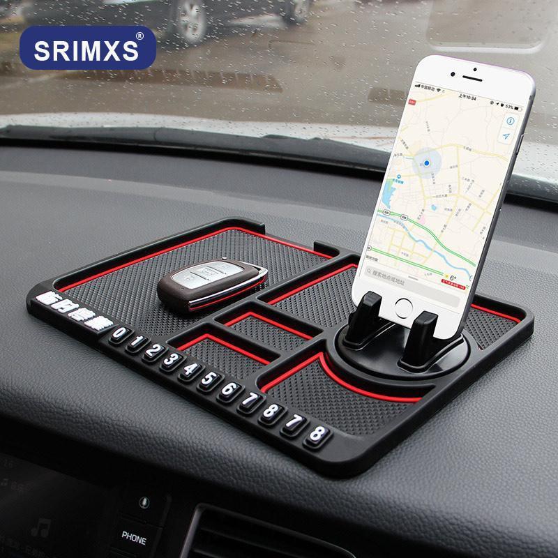 Mats antideslizantes Topeboard multifuncional del teléfono del automóvil Temporal Tablero de silicona para almohadilla