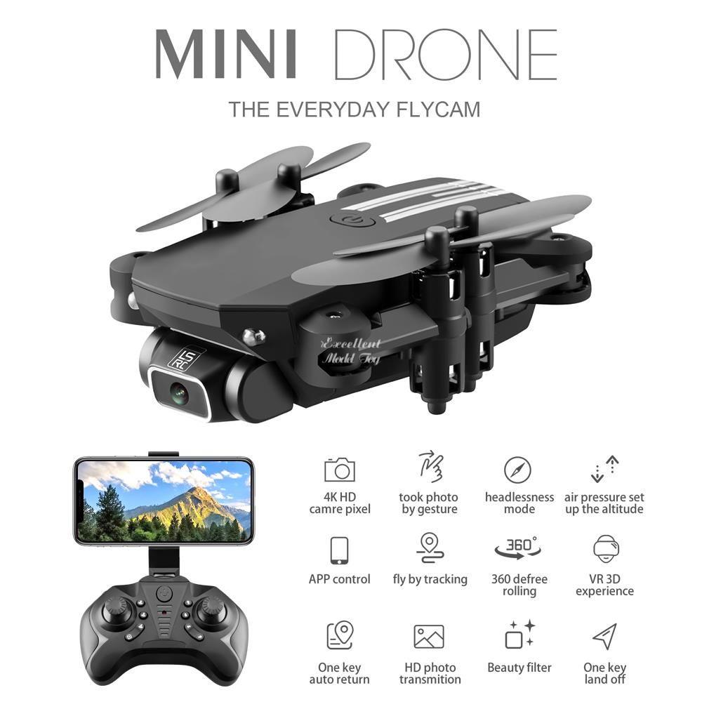 LSRC 4K WiFi FPV Faltbarer Mini-Anfänger Drone Kid Spielzeug, Simulatoren, Foto von Geste, Flugzeugflug, Schönheitsfilter, Höhenhold, 360 ° Flip, 3-1