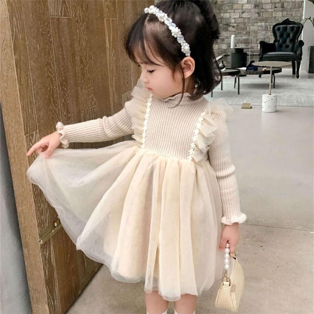 А осень зимы девочка Drs Baby Net Red Full SLU Детские персональные модные бренды плюшевые утолщенные вязание MH князья юбка