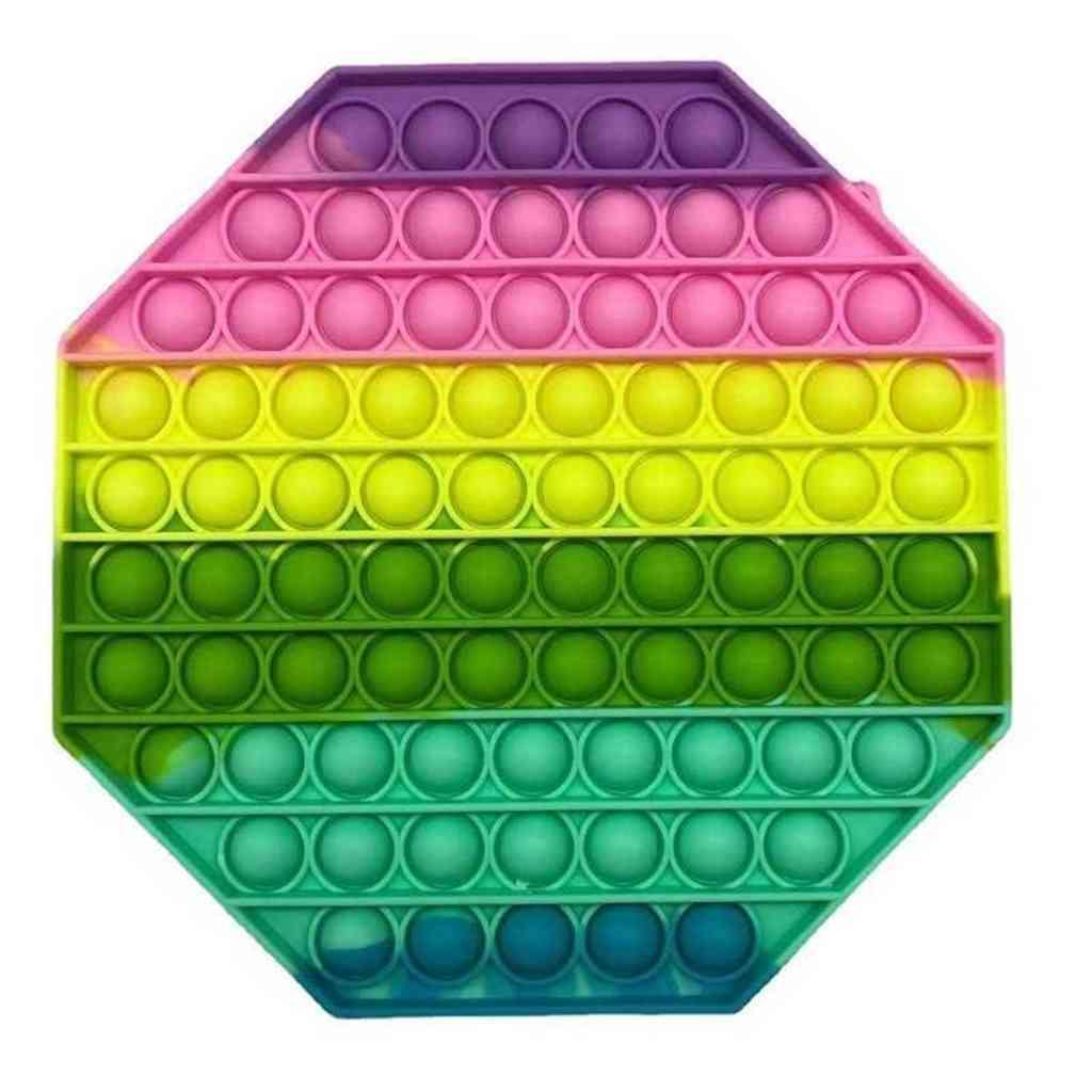 Silicone Makaron 20 cm Fingerix Fidget Pop Puzzle Toys Juego de mesa grande para niños Push Bubble Anti estrés Sensor Sensor Juguetes de descompresión G65wexu