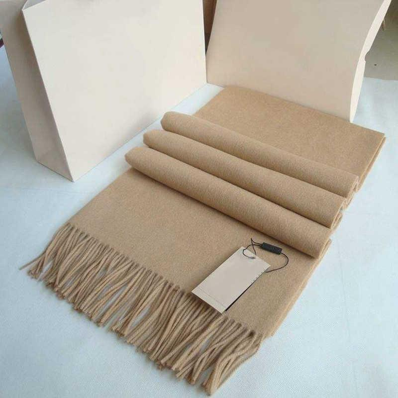 상자 선물 겨울 겨울 100 % 캐시미어 스카프 남성과 여성 디자이너 클래식 큰 격자 무늬 스카프 Pashmina Infinity 스카프 cm