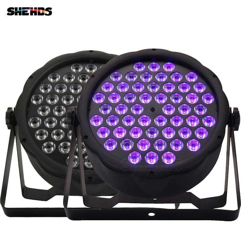 SHEHDS Par Lights LED Flat 54x3W Violet Color Wash Stage Effect UV-Lighting For DJ Disco Party Wedding Ball Bar Control With DMX