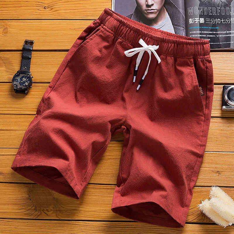 Factorym6ou Summer Tinter Tinter Shorts Uomo 2020 Youth Cotton Cotton Hemp Bracciale Sport Beach Pantaloni casual