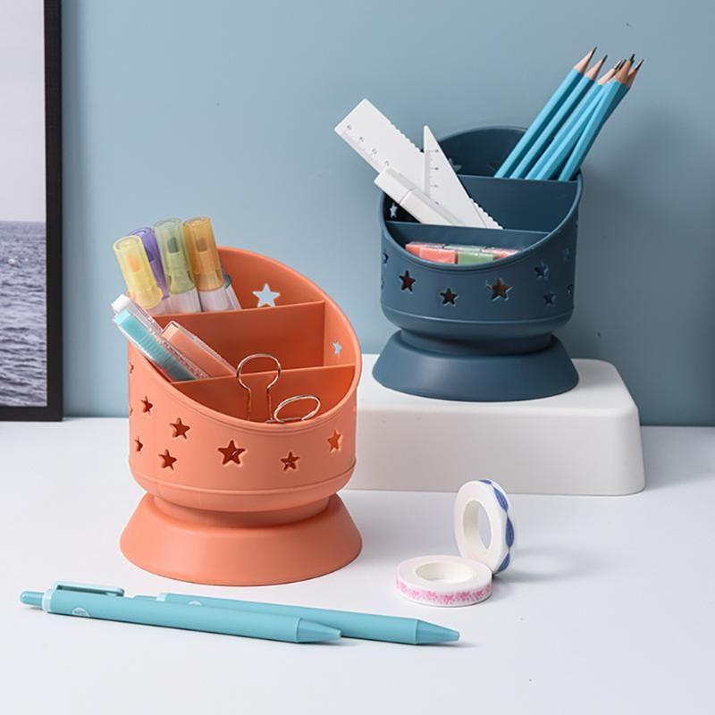 Office Desk Organizer Kitchen Chopsticks Rack 3 Lattices Makeup Brush Storage Box Cosmetics Pen Holder Stationery Boxes & Bins