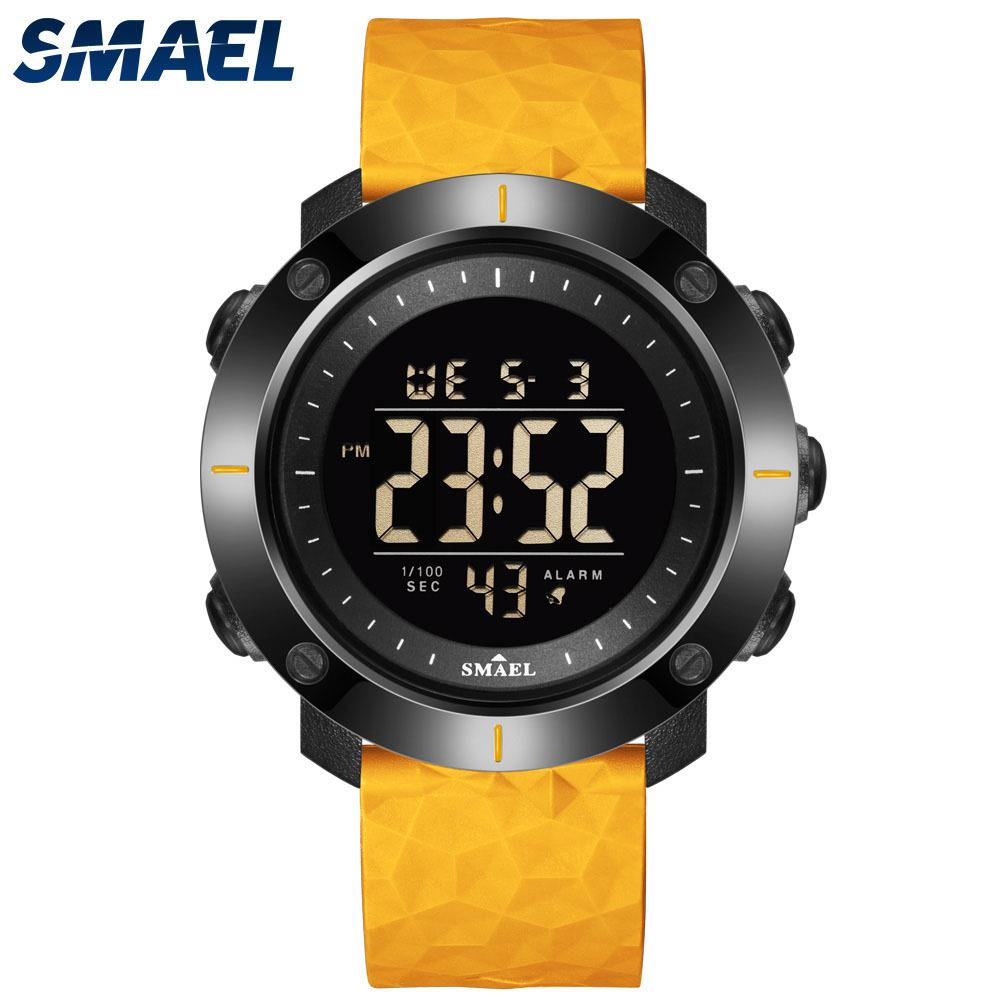 New Watch Digital LED Watches SMAEL Sport Wristwatches 50M Water Resistant Swimming Clock Stopwatch Time 8042 Military Watches X0524
