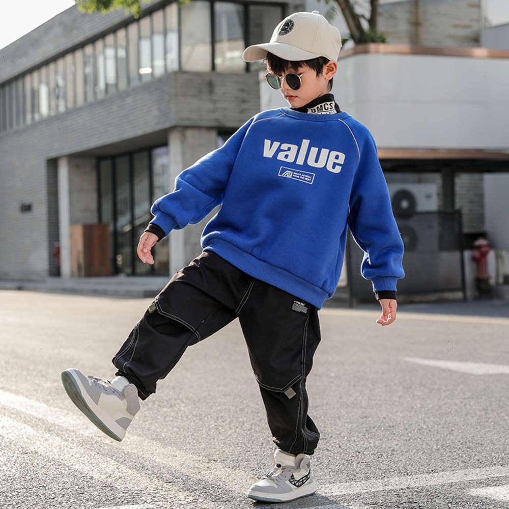 Sweats à capuche Sweatshirts Physique Chaussure Sweatchumn Pull en peluche Hiver Enfants Épaisies Base Coat Ave3