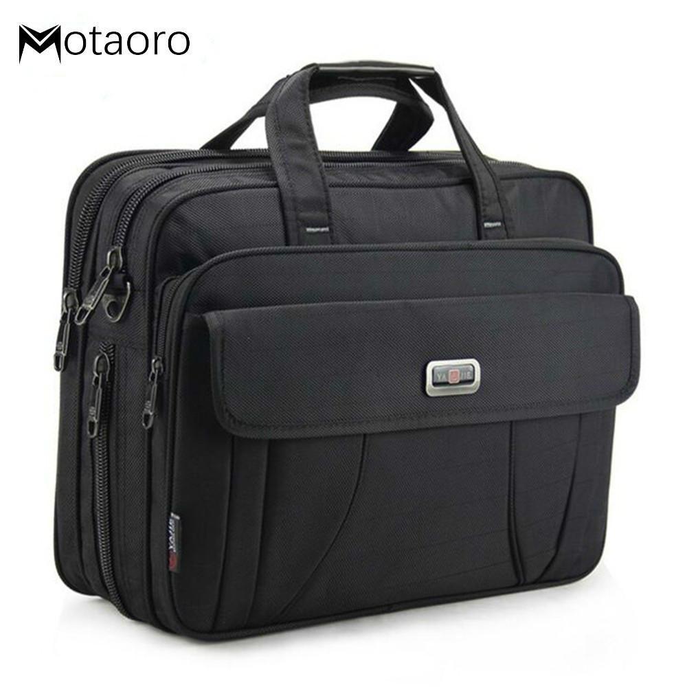 """Grandes Malas de Negócio de Negócios de Negócios Mulheres 15.6 """"Bolsa de Laptop Macho À Prova D 'Água Viagem Handbags Woman Office Work Hand q0112"""