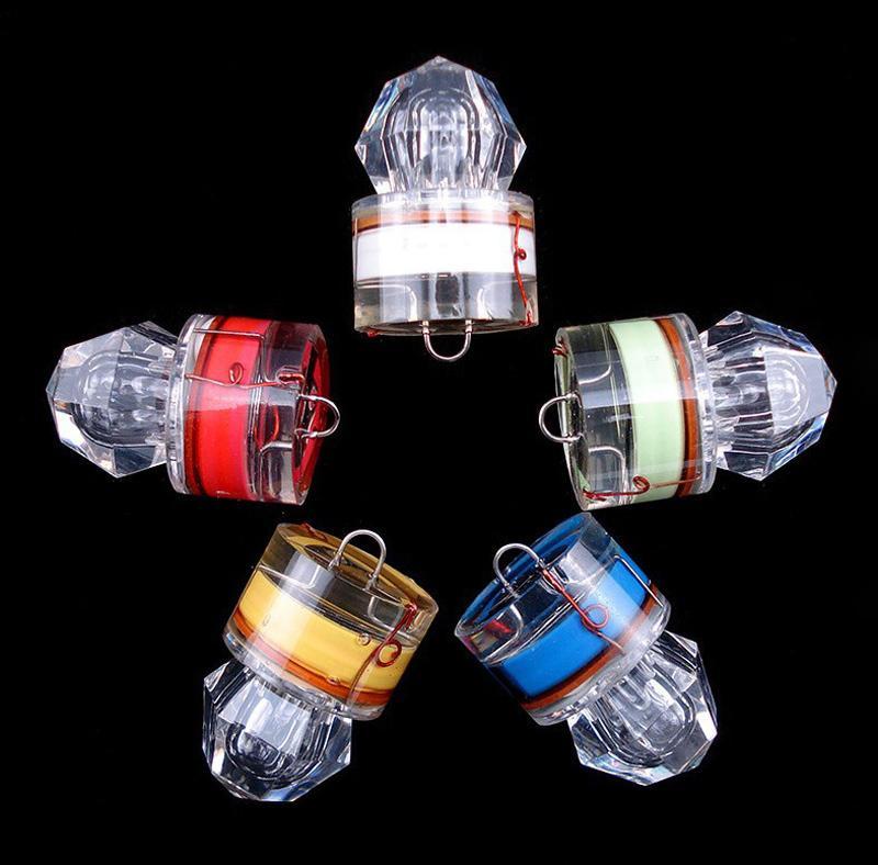 LED-Diamantfischen blinkendes Licht tiefes Tropfen Unterwasser-Acrylköder-Köder-Squid-Blitzlicht 5 Farben für wählen