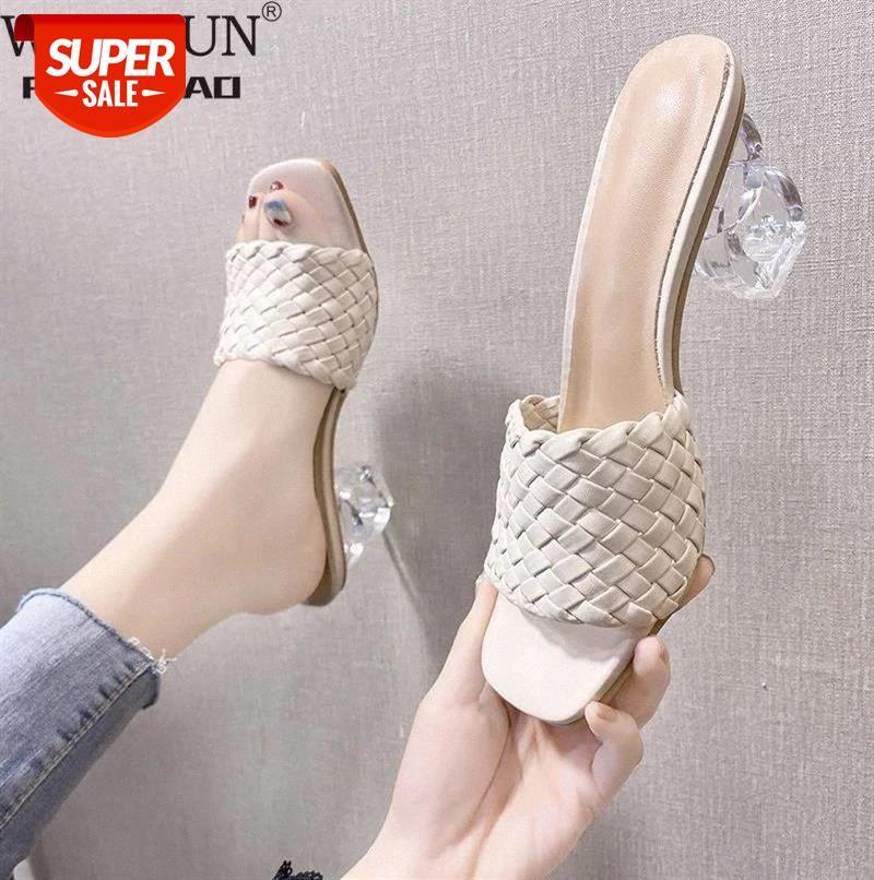 WDHKUN Transparent High Heels Women Square Toe Sandals Summer Shoes Woman Clear Pumps Wedding Slippers #ER6i