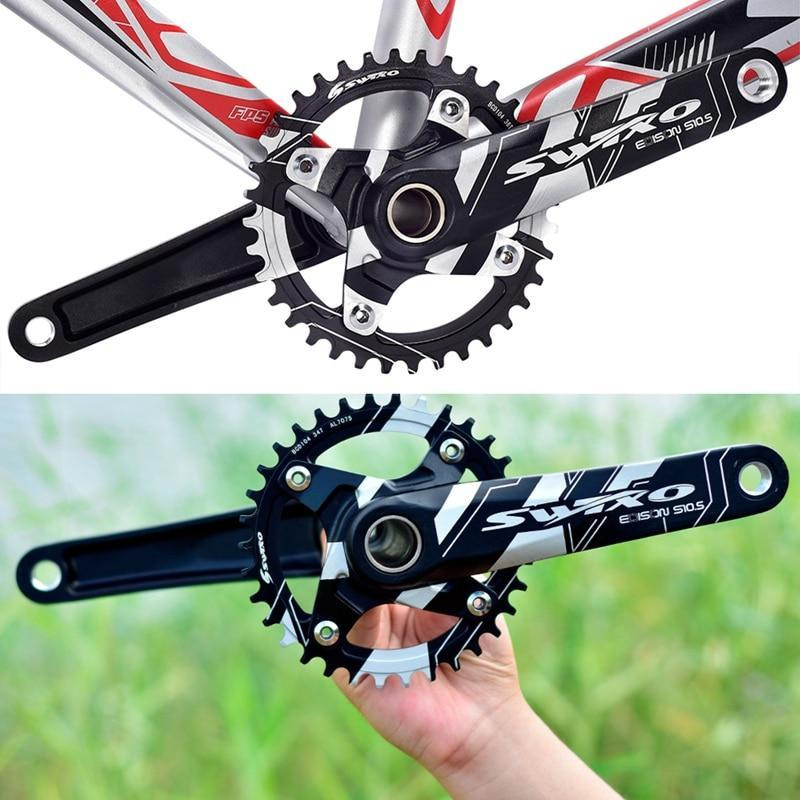 Bike Freewheels & Chainwheels Mountain Bicycle Hollow Left And Right Crank Teeth Selection Single-disc Accessories-32/34/36/38T