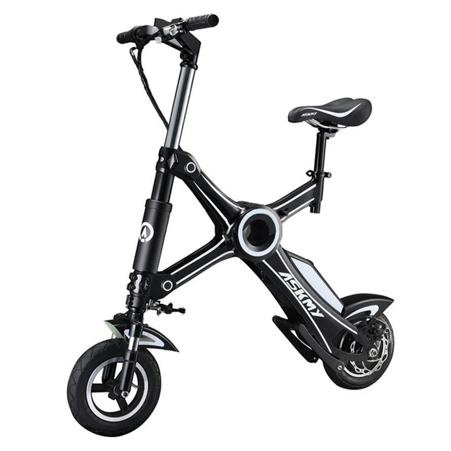 X1 سكوتر الكهربائية النقل خفيفة الوزن الدراجة 10 بوصة 36 فولت 250w ackooters قابلة للطي للبالغين مع التحكم في بلوتوث