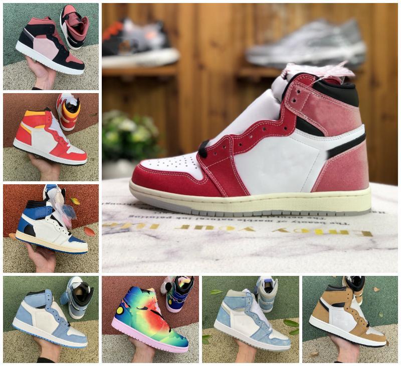 Top Quality Mens Womens 1s High OG Basquetebol Sapatos Travis Branco Canyon Furn Universidade Azul Hyper Royal Chicago Preto Criado Green Silver Toe Twist Sapatilhas