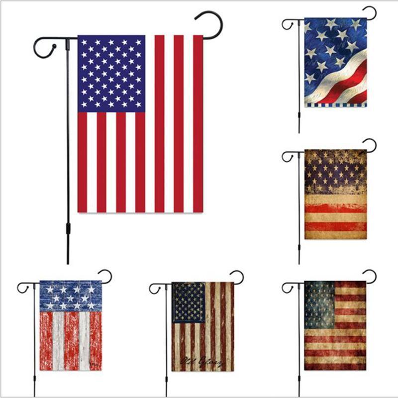 30 * 45cm Bandiera Bandiera Bandiera Americana Giardino Bandiera Due Styley Indipendenza Giorno Bandiera Bandiera All'aperto Luglio 4 Memorial Giardino Bandiere JJA139