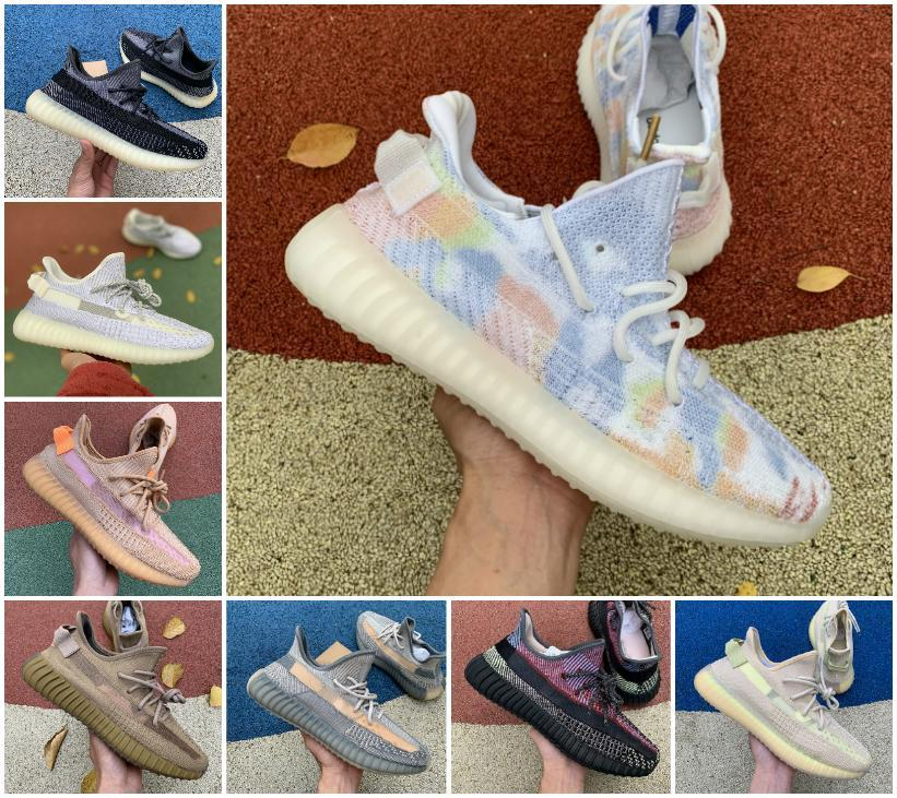 Comfort Mens run Обувь Женщины Спортивные кроссовки Kanye West Desert Sage Static Earth Zyon Hait Light Cinder V2 с шариком размером 36-46