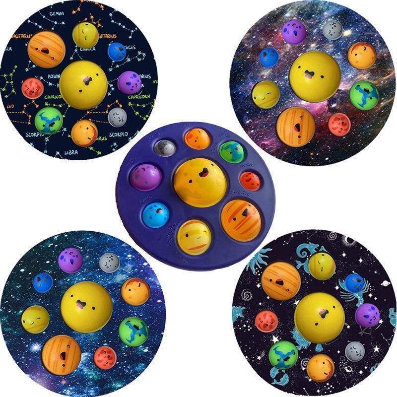 Простые ямочные сенсорные игрушки Fidget игрушки моделирования Планета Антистресс сжатие рельефной стресс Тревога Игрушка для детей Chidren Pired DHL 4961