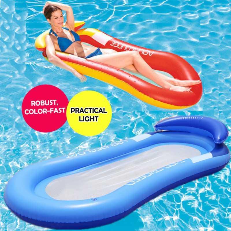 Yüzme Havuzu Su Hamak Beach Hava Yatakta Şezlong Yüzer Uyku Yastık Katlanabilir Şişme Yüzer Tüpler