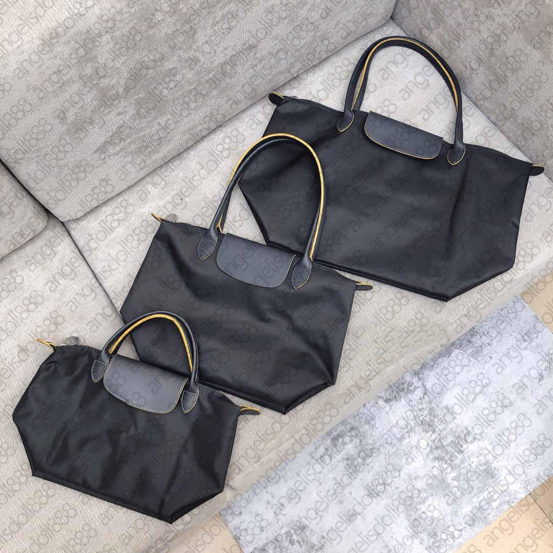 Bolsas das mulheres Bolsas de compras Bolsas de Beach Bolsas de Bolsas de Nylon Oxford Couro Real Top Qualidade Dobrável Travel Bag