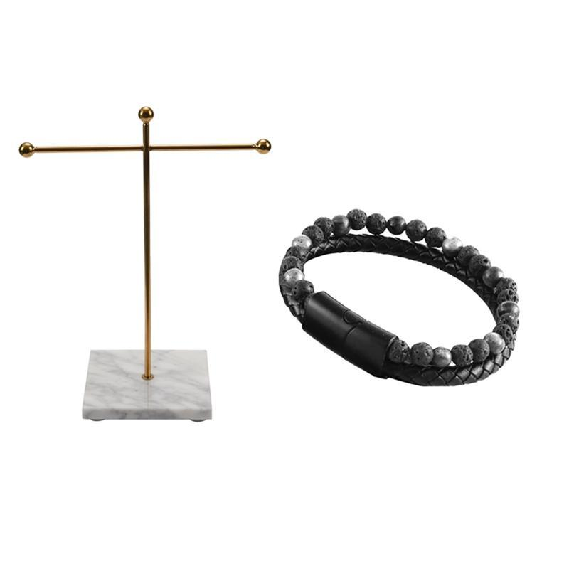 الحقائب المجوهرات، أكياس المعادن الذهبي تخزين الرف مع قاعدة الرخام الصغيرة العصرية الرجال برازيلت طبقة مزدوجة جلدية جلدية موجودة ل