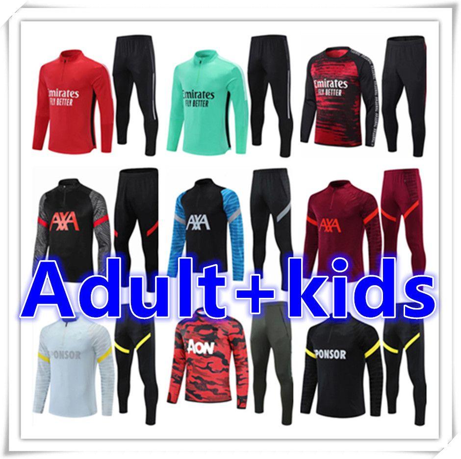 Kinder + Männer Erwachsene 20 21 Fußballtrainings Trainingsanzug Fussball Trainingsanzüge Anzug Sets 2021 2022 Chandal Jacket Jogging Kits