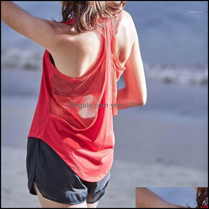 Yoga Exercise Wear Athletic Outdoor Apparel Sports & Outdoorsyoga Outfits Quick Dry T Shirt Womens Sport Shirts Running Loose Sleeveless T-S